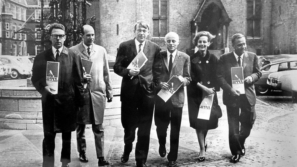 Het initiatiefcomité op 15 september 1966
